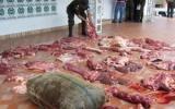 Por medio de embarcaciones, carros o a pie ingresa carne de contrabando de Venezuela. Foto: Policía Nacional.