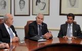 Itzhak Shoham, Yair Shamir (c) y José Félix Lafaurie. Foto: CONtexto Ganadero.