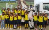 Además de las entregas, los niños tienen una serie de actividades lúdicas en donde aprenden la importancia de consumir leche. Foto: Fedegán.