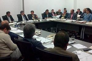 Los miembros de la Cámara Gremial de la Leche y la Cámara Gremial de la Carne se reúnen en Fedegán. Foto: CONtexto Ganadero.